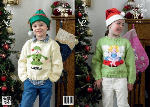 King Cole DK Knitting Pattern – 3807 Christmas Sweaters