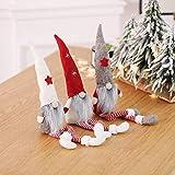 MU2827924 Langer Hut Plüsch Weihnachtszwerg Puppe Dekoration Weihnachtsmann-Figur Puppe Plüsch Elf Spielzeug 3 Stück,3pcs - 5