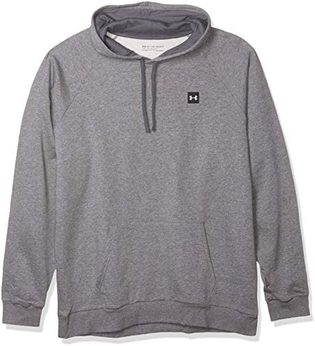 Under Armour Men s Rival Fleece Hoodie Pitch Gray Light Heather 012 Onyx White X Large product image