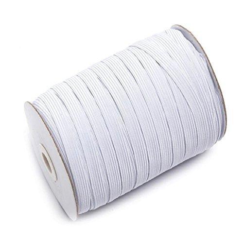 Braided Elastic 144 Yards - White (1/2'' Wide)