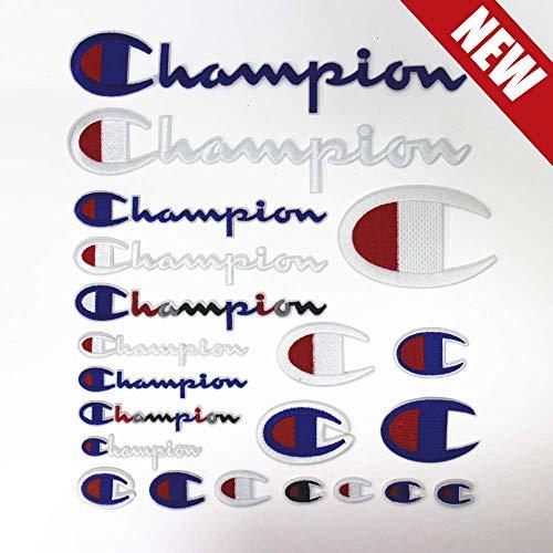 21 Stück Champion Aufnäher-Set – zum Aufnähen oder Aufbügeln, Sport-Logo, bestickt, DIY-Aufnäher, Dekoration, für Jacken, Jeans, Schuhe, Rucksäcke, T-Shirts, verschiedene Größen