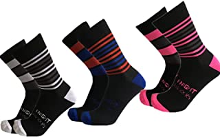 WZDSNDQDY Calcetines de Tubo para Hombre 3 Pares Calcetines de Baloncesto Negros patrón de Rayas de Colores Material de Nylon Transpirable y ponible