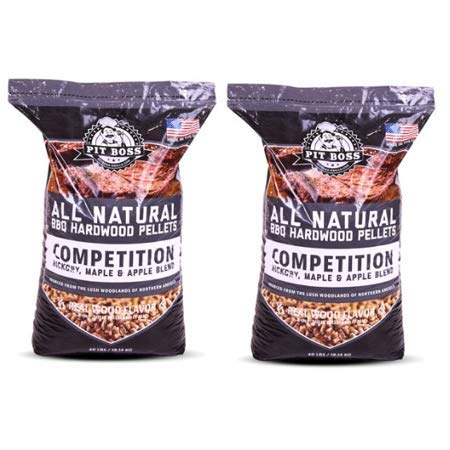 Pit Boss (2 Pack) Competition Blend BBQ Wood Pellets - 40 lb Resealable Bag