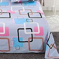 ダブルシングルベッド用ソフトフラットシート、ポリコットン寝具フラットベッドシーツ防汚、洗濯機で洗えます AWSAD (Color : G, Size : 120*230cm)