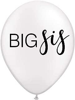 Big Sis Balloon, White Big Sis Balloon, Big Sister Balloon, Pregnancy Announcement, Photo Prop, Baby Announcement Balloon, Set of 3
