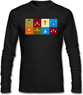 Hefeihe DIY Avatar The Last Airbender Poster Men's Long-Sleeve Fashion Casual Cotton T-Shirt
