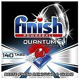 Finish Quantum Ultimate Spülmaschinentabs – Geschirrspültabs mit 3-fach Wirkung – Kraftvolle Reinigung, Fettlösekraft und Glanz – Gigapack mit 140 Finish Tabs -