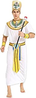 QYLOZ Halloween Role-Playing Costumes, Adult Men's Nile Pharaoh Costumes, Masquerade Costumes, Including Hats, Shawls, Wristbands, Belts, Apparel (Suitable for Height 170cm-185cm)
