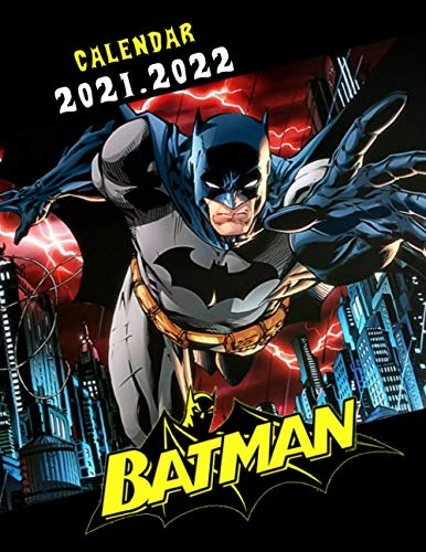 Batman: 2021 – 2022 Cartoon Calendar – 18 months – 8.5 x 11 inch High Quality Images