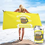mengmeng Divertido regalo químico alcohol es una solución toalla de secado rápido para deportes, gimnasio, viajes, yoga, camping, natación, súper absorbente, compacta, ligera toalla de playa