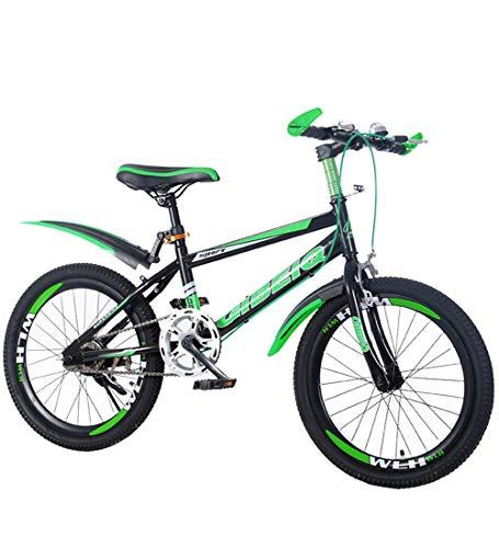Kinderfahrräder Mountainbikes 22 '' Verdickter Hochmesser-Ring Single Speed Scheibenbremse Mountainbike Spezieller Sattel Ananas Textur-Reifen,Green