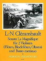"""CLERAMBAULT L.N. - Sonata """"La Magnifique"""" para 2 Violines (2 Flautas) (2 Oboes) y Piano (Fortino)"""