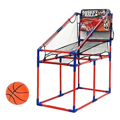 Juego de canasta de aro, juego de juguete con soporte de baloncesto, canasta de aro ajustable con soporte de baloncesto para niños, juego de actividades deportivas, juguetes deportivos para niños