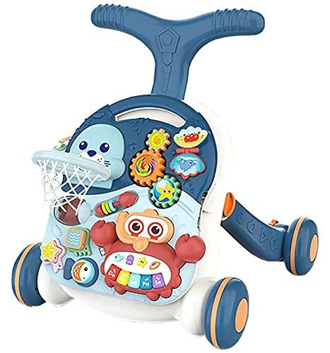 Juguetes Para BebéS Andador Para BebéS Juguete Para BebéS Mesa De Juegos Para Caminar Dos En Uno Cochecito Para NiñOs PequeñOs Bebé Que AprendeACaminar AndadorParaBebéS Juguetes Para BebéS 6 Meses MáS