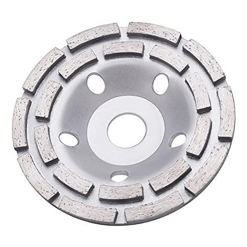 Tendak Premium Diamant-Schleiftopf Standard 125 mm x 22,2 mm für Beton, Gips, Granit, Harz, Fliesenkleber, Naturstein usw (1 Pcs)