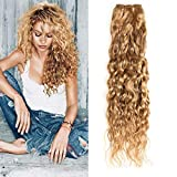 New Year Gifts XCCOCO One Bundle Honey Blonde Water Wave Bundles Brazilian Virgin Curly Wet and Wavy Hair Weave 100% Unprocessed Human Hair Extensions 10inch,100g/bundle