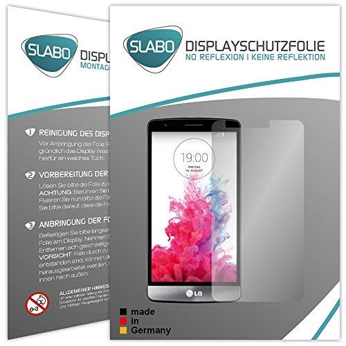 Slabo 2 x Bildschirmschutzfolie LG G3 s Bildschirmschutz Schutzfolie Folie No Reflexion|Keine Reflektion MATT - Entspiegelnd Made IN Germany