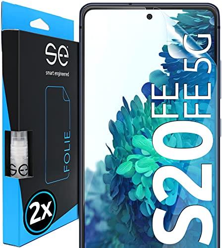 Protectores de pantalla de hidrogel 3D comp. con Samsung Galaxy S20 FE & S20 FE 5G [2 unidades | smart engineered], Pelicula vidrio, Transparente, Comp. con carcasa, Total cobertura, Lámina Blindada