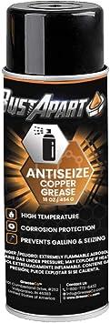 Anti Seize Spray Lubricant   Copper   Thread Compound   Bolt Grease   Automotive   Sieze   Lube   Never Cease Temp   Spark Plug   Paste   Antisieze   Neversieze   12 OZ Aerosol Can   BustApart: image