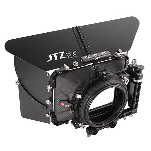 JTZ DP30 Cine Lens Carbon Fiber 4x4 Swing-Away Matte Box with 15mm/19mm Rod Rail Rig for Sony FS5 FS7 ARRI RED Canon C100 C200 C300 BM D Blackmagic BMPCC BMCC Pocket Cinema Panasonic Camera