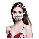 Youmore 10 pcs Weihnachten Erwachsene Einweg Mundschutz Leopard Print Mund-undNasen-Bedeckung Staubschutz FaceCoverAtmungsaktive Gesichtsschutz Bandana Loop Halstuch für Erwachsene