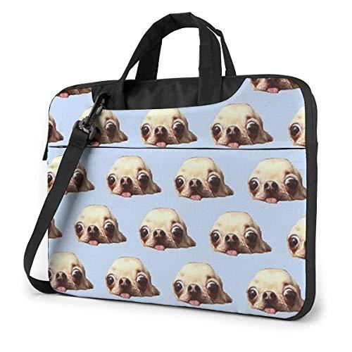 Schwimmen Chihuahua Wallpaper Laptop Umhängetasche 15,6 Zoll Laptop Messenger Case Laptop Hülle Tragetasche mit Gurt