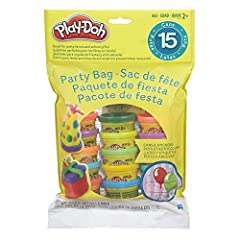 Bag contains 15 one ounce cans of Play Doh brand modeling compound Great for party favors and school gifts Made using safe materials Includes 15 one ounce cans of Play Doh modeling compound and personalized gift tags
