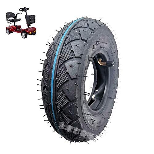 DLILI Neumáticos de Scooter eléctrico, neumáticos internos y externos 2.50-4, patrón Antideslizante Resistente al Desgaste, silencioso y Duradero, Adecuado para Scooters más Antiguos
