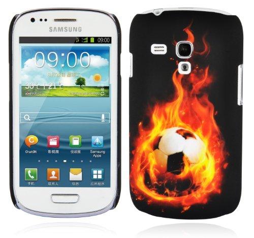 Cadorabo – TPU Hard Cover per > Samsung Galaxy S3 Mini < (I8190) - Case Cover Involucro Bumper Accessorio in Design: Pallone