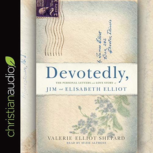 Devotedly     The Personal Letters and Love Story of Jim and Elisabeth Elliot              By:                                                                                                                                 Valerie Elliot Shepard                               Narrated by:                                                                                                                                 Nan McNamara                      Length: 13 hrs and 36 mins     Not rated yet     Overall 0.0