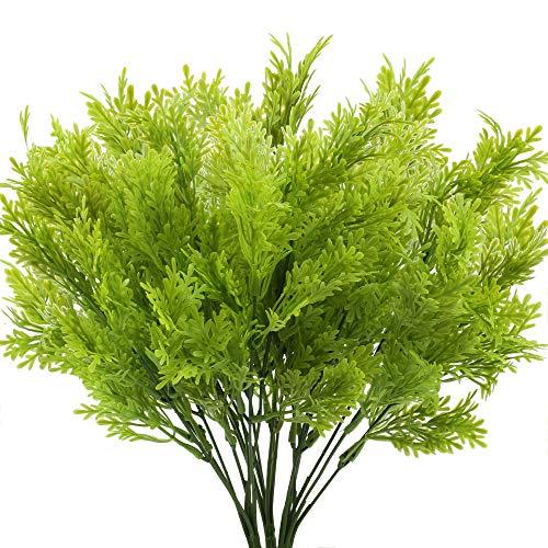 XHXSTORE 3pcs Fougère Artificielle Exterieur Fausse Plante Verte Vanille Pot Arbuste Artificiel Verdure Buis Boston Interiéur pour Décoration Maison Balcon Terrasse Arrangement de Fleur