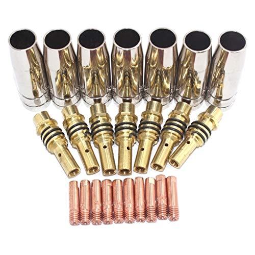 Itlovely 24pcs 1.2 15AK boquillas Consejos de contacto titulares MIG soldador consumible herramienta de soldadura