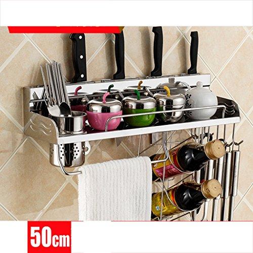 Telaio trucco Ripiani Mensola in Acciaio Inox Cucina a Parete attrezzata per Cucina Scatola di immagazzinaggio (Dimensioni : 50cm)