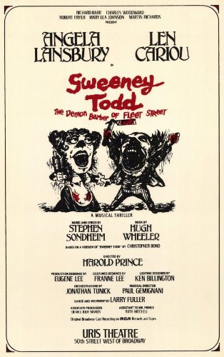 Pôster Sweeney Todd Broadway Theater Play 11x17 Len Cariou Angela Lansbury Victor Garber MasterPoster Print, 11x17