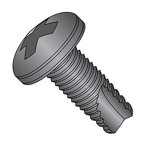 Phillips Drive 3//4 Length Pan Head #12-24 Thread Size Plain Finish 18-8 Stainless Steel Thread Cutting Screw Pack of 25 Type F