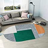 NF Alfombra grande, moderna simplicidad irregular ovalada, alfombra de salón, dormitorio, alfombra de área, lavable, antideslizante, pequeña decoración del hogar, 40 cm x 60 cm
