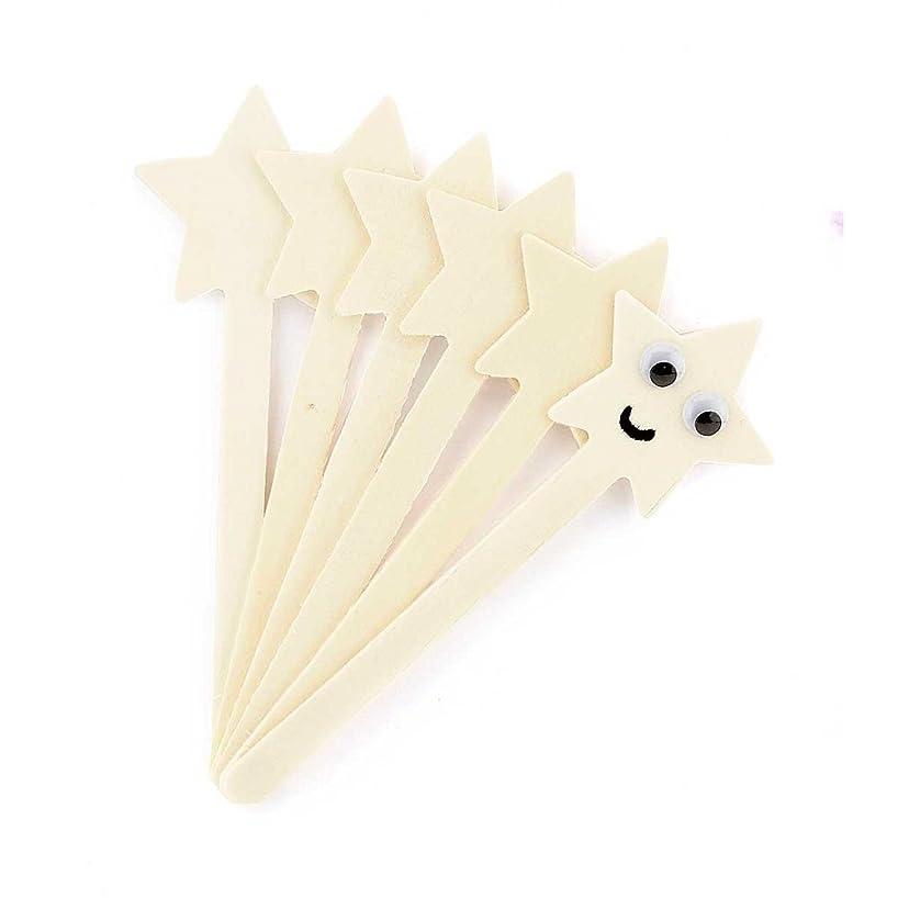 Hygloss Natural Wood Popsicle Sticks - 6.25 Inches Art & Craft Sticks - Star Shape, 25 Pcs