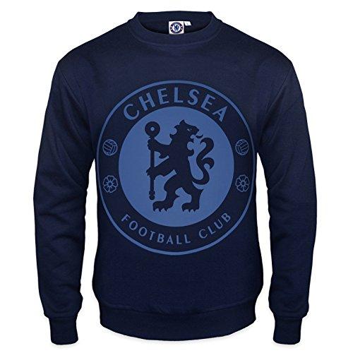 Chelsea FC - Herren Sweatshirt mit Vereinswappen - Offizielles Merchandise - Geschenk für Fußballfans - S