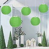 Silverbirdly 30CM Solarlaterne, Hängende Garten Lampions, Außen Wasserdicht LED Solar Laterne Für...