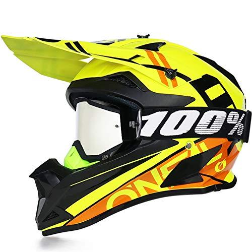 Casco de Motocross para Hombre, Casco Completo para Bicicleta de montaña, Gorras de Seguridad para Carreras de Motos, Gorras, Cascos de Moto Todoterreno