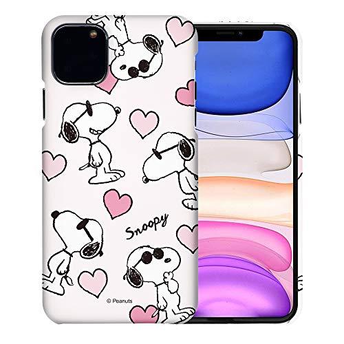 """iPhone 11 ケース と互換性があります Peanuts Snoopy ピーナッツ スヌーピー ハード ケース/艶消しの硬い スリム スマホ カバー 【 アイフォン 11 ケース (6.1"""") 】 (スヌーピー な愛 柄) [並行輸入品]"""