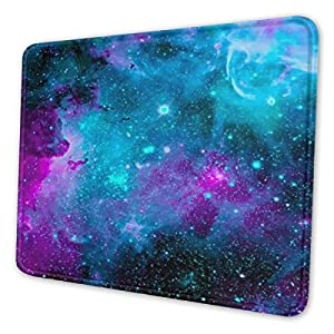 Mouse Pads Galaxy Mouse Mat Nonslip Rubber Base with Stitched Edge for Gaming PC Computers Work Office