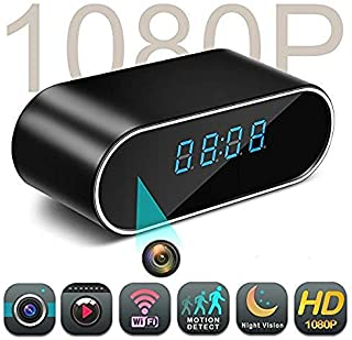 Mini Spy Hidden Camera Clock - Nanny Cam, Wireless IP Best Digital Small Full HD 1080P with WiFi, Motion Detection & Night Vision