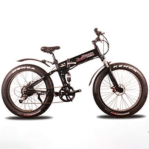 Extrbici Mountain Bike, 350W 36V 21 Speed Spoke Wheel Foldable Aluminum Alloy Frame Dual Hydraulic Disc Brake Electric Bicycle