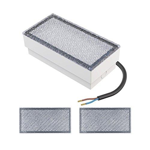 parlat LED Einbaustein Wegbeleuchtung CUS, 20x10cm, 230V, warm-weiß, 3 Stk.