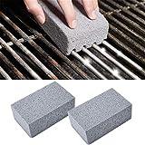 LUPAZKM 2PCS BBQ Scraper Pumice Grill Cleaner Cleaning Stone Brick Block Barbecue Griddle