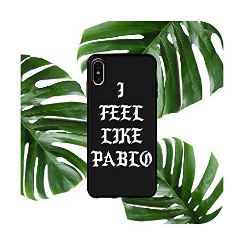 Funda suave del teléfono para iPhone X XS MAX XR 8 7 6 S Plus mate silicona casos moda Pablo coque funda capa-Negro-Para iPhone 8