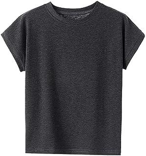 QXXKJDS Chic Summer T Shirt Women Tee Vintage Design Casual Slim O Neck Short Sleeve T Shirt Ladies Tops Black White Solid...