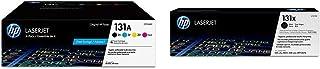 $414 » HP 131A | CF210AQ1 | 4 Toner Cartridges | Black, Cyan, Magenta, Yellow & 131X | CF210X | Toner Cartridge | Black | High Yield