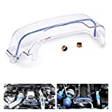 PTNHZ Clear CAM Cover Timing Belt Cover Turbo CAM Pulley Compatible Relacement for 92-05 Toyota Supra 2JZ 2JZGTE Lexus 3.0L Non-VVTI